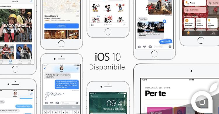 iOS 10 è già stato installato sul 33,65% dei dispositivi