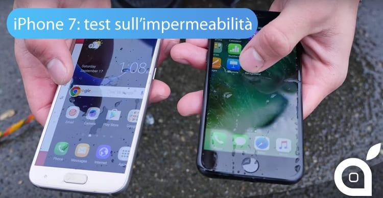 iPhone 7 batte il Samsung Galaxy S7 in un confronto sull'impermeabilità [Video]