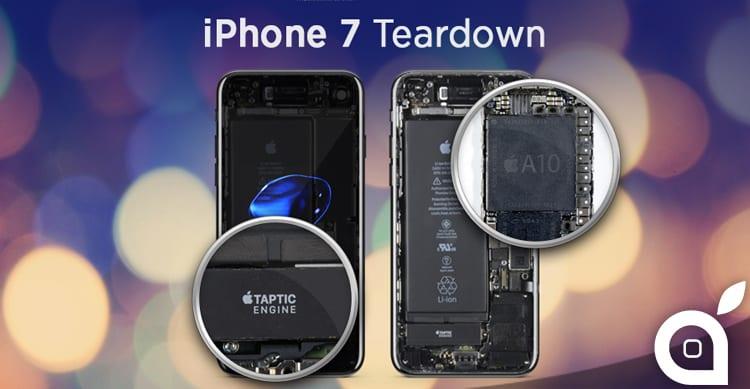 iPhone 7: ecco cosa si nasconde sotto la scocca del nuovo smartphone Apple