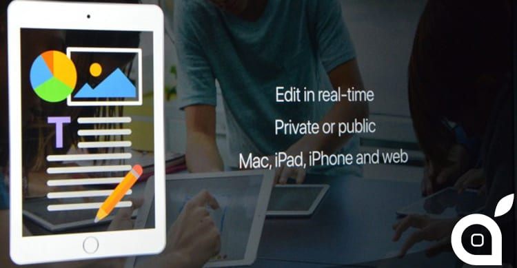 iWork si aggiorna portando la collaborazione in tempo reale su Pages, Numbers e Keynote