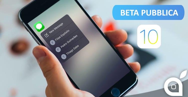 Apple rilascia iOS 10.1 beta 2 per i beta tester