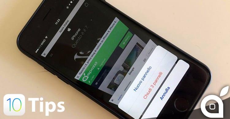iOS 10 Tips: come chiudere in un solo colpo tutti i pannelli aperti in Safari