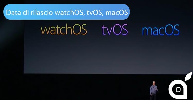 watchOS tvOS, macOS
