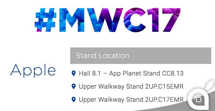 Apple sarà presente come espositore al Mobile World Congress del 2017!