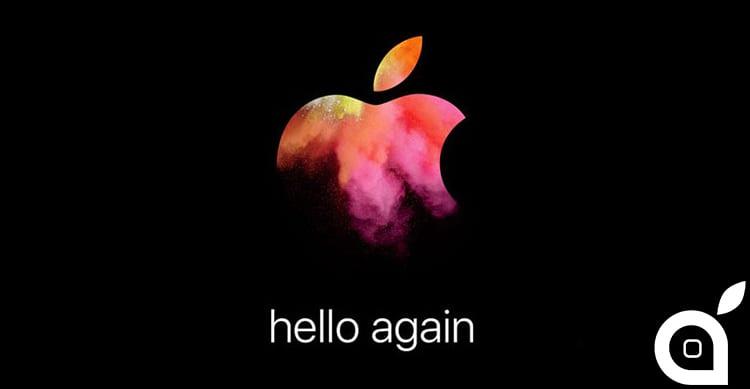 UFFICIALE: L'Evento Apple per la presentazione dei nuovi Mac si terrà il 27 Ottobre!