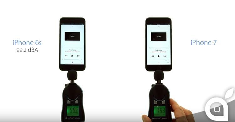 iPhone 7 vs iPhone 6s: ecco un test che misura il volume degli speaker [Video]