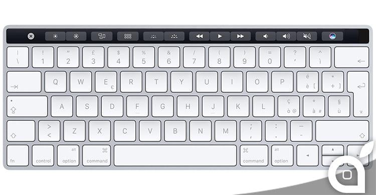 Ecco come potrebbe essere la Touch Bar sulla Magic Keyboard per iMac e computer Desktop