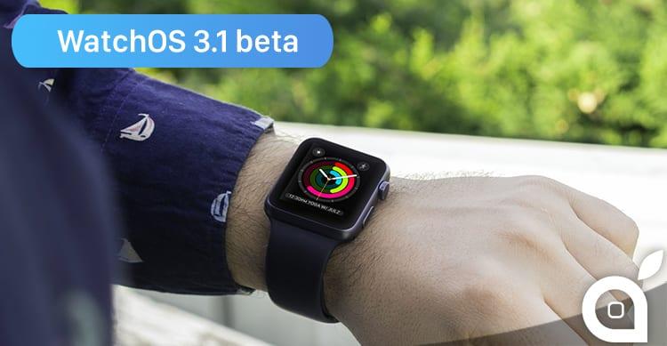 Apple rilascia WatchOS 3.1 beta 3 per gli sviluppatori