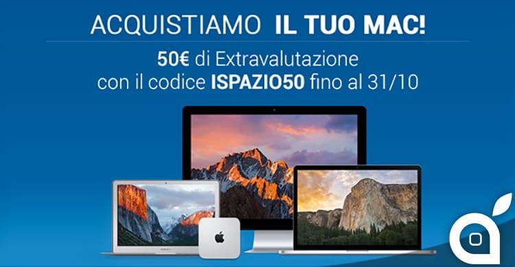 TrenDevice acquista il vostro Mac usato: con iSpazio 50€ di extravalutazione