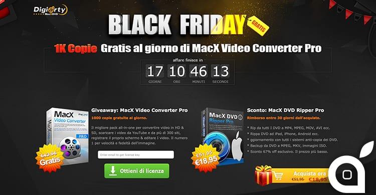 BlackFriday: Scarica gratuitamente MacX Video Converter Pro uno dei migliori video convertitori per Mac