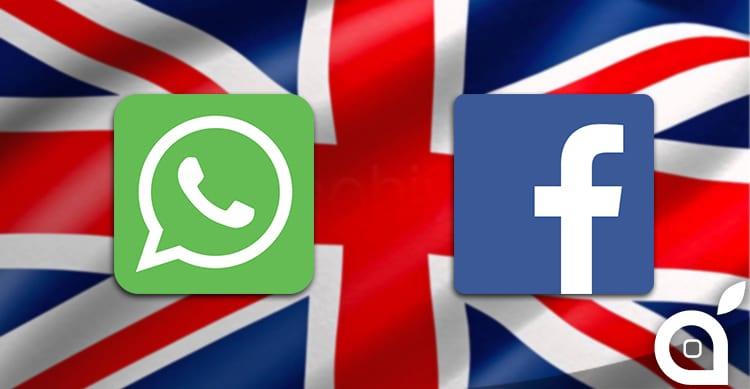 Garante Privacy UK: stop a condivisione dati tra WhatsApp e Facebook