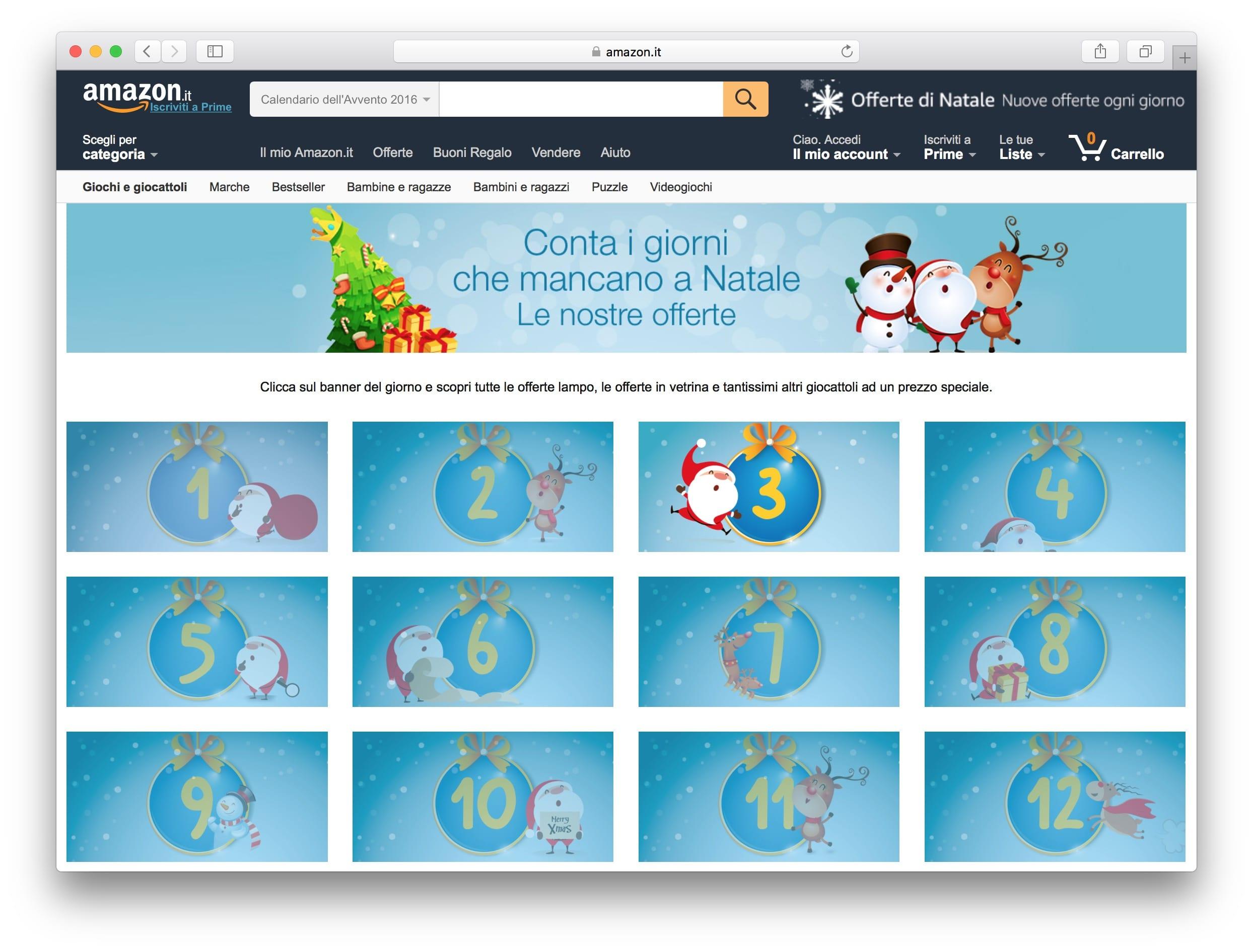 57bfb9832a6701 Arriva il Calendario dell'Avvento su Amazon con sconti per giochi e ...