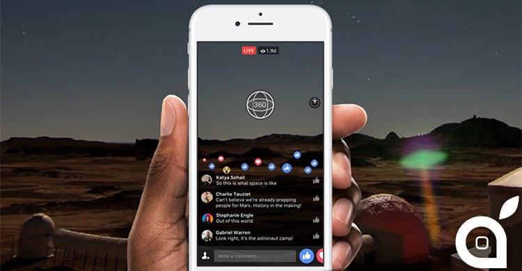 Facebook: sarà presto possibile trasmettere video a 360° in diretta