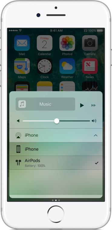 iphone7-ios10-control-center-select-airpods