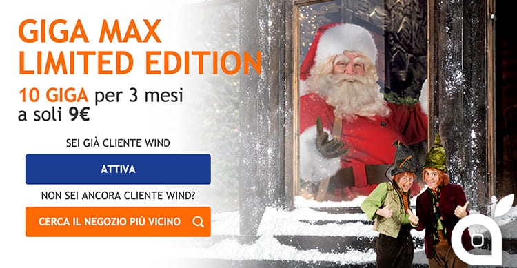 Le promozioni natalizie di Wind: All Inclusive Christmas Edition e GIGA Max Limited Edition