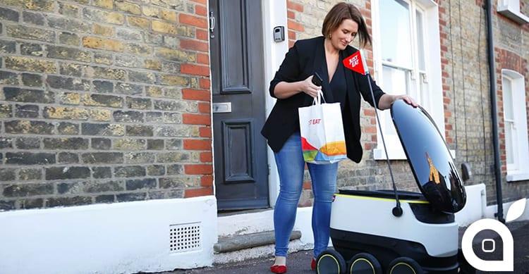 Just Eat ha consegnato il primo pasto al mondo con un robot