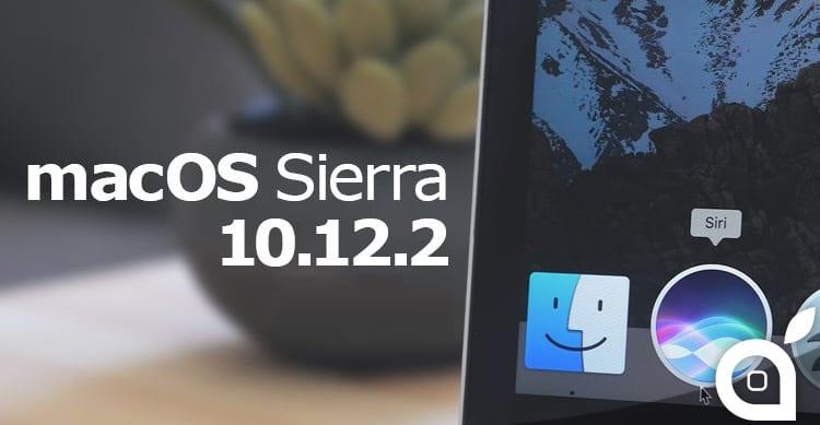 Apple rilascia MacOS 10.12.2