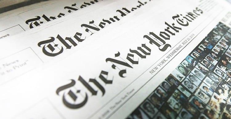 Apple ha dovuto rimuovere l'app del New York Times dall'App Store cinese