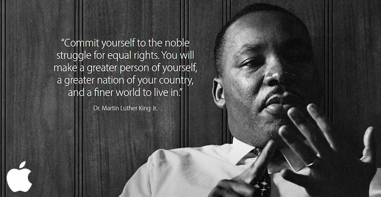"""Apple e Tim Cook onorano il """"Martin Luther King Jr. Day"""""""