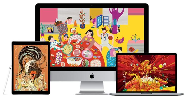 Apple condivide wallpaper creati con Mac e dispositivi iOS in occasione del Capodanno Cinese