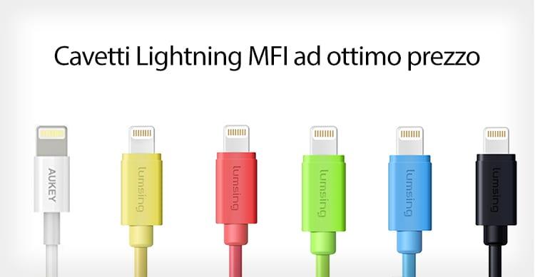 Cavetti Lightning MFI a partire da 2,40€in promozione su Amazon con i nostri Coupon