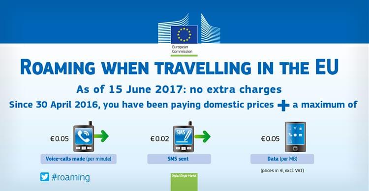 Finalmente, dal 15 Giugno, verranno eliminati i costi di Roaming nell'Unione Europea