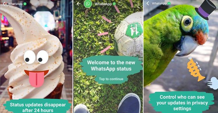 Gli utenti che utilizzano i nuovi Status di WhatsApp hanno già superato quelli di SnapChat