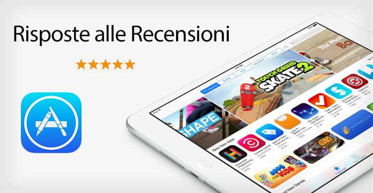 E finalmente possibile rispondere alle recensioni su App Store: ecco come fare!