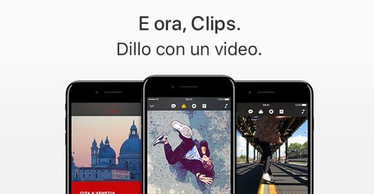 Apple annuncia Clips, una nuova app per registrare video da condividere sui social network [Video]