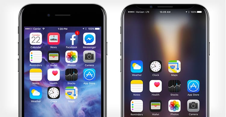 L'iPhone 8 potrebbe avere un display leggermente curvo, ma non come quello del Galaxy S7 edge