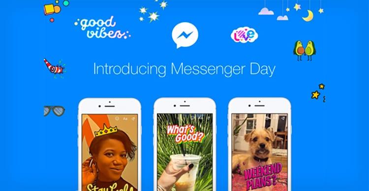 Facebook lancia Messenger Day, le Stories di Snapchat all'interno dell'app di messaggistica