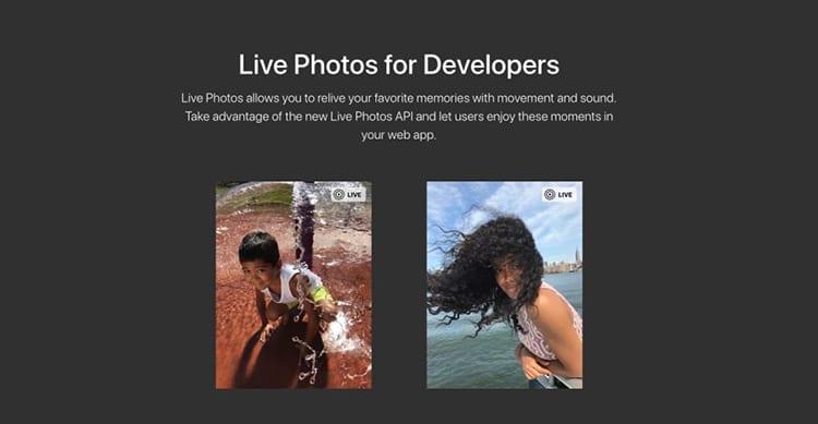 Apple porta le Live Photos sul web rilasciando le nuove JavaScript API