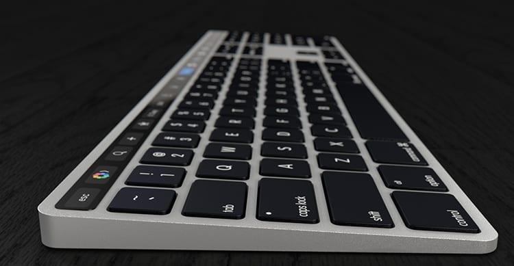 Un brevetto rivela l'arrivo della nuova Magic Keyboard con Touch Bar per gli iMac 2017
