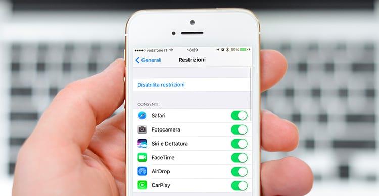 scoprire password restrizioni iphone