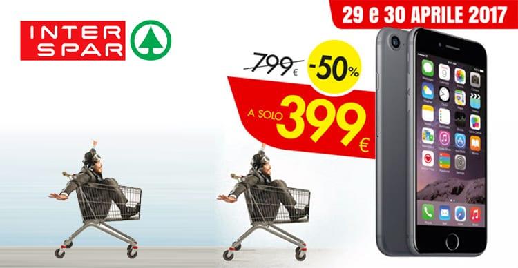 iPhone 7 da 32GB a soli 399€presso i punti vendita Interspar di Padova, a fronte di 300€ di spesa