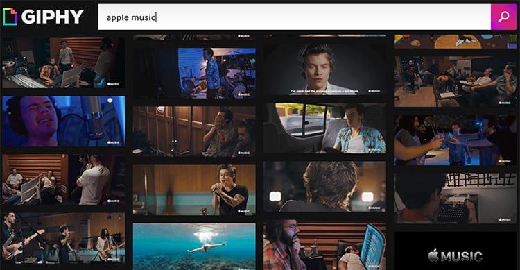 Apple sbarca su Giphy per promuovere e rendere virali delle GIF divertenti legate ad Apple Music