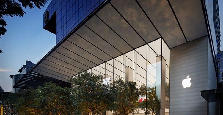 Apple Orchard Road in Singapore apre ufficialmente al pubblico: gli interni sono ispirati ad Apple Park