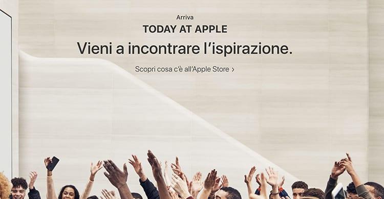 """Apple lancia ufficialmente """"Today at Apple"""", da domani in tutti gli Apple Store"""