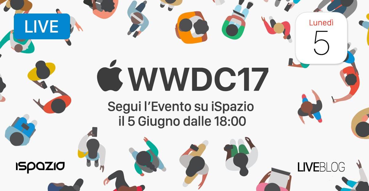 wwdc 2017 evento apple diretta ispazio keynote 5 giugno