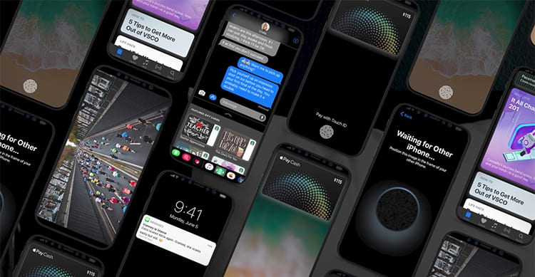 ios 11 dark mode iphone 8