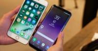 iphone samsung galaxy s8