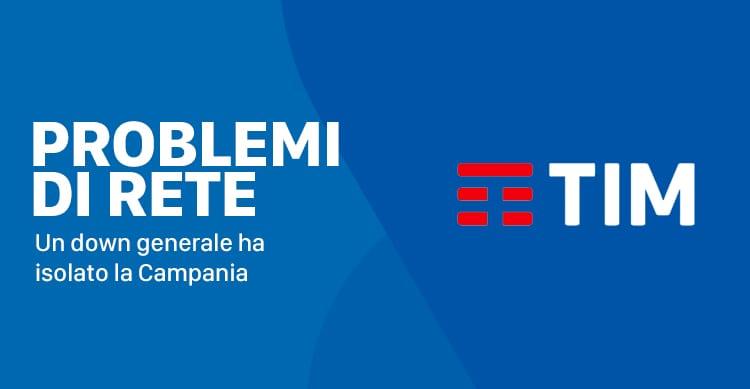 TIM: La linea fissa e quella mobile down in tutta la Campania e dintorni