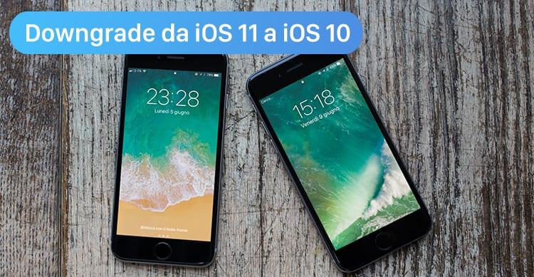 downgrade ios 11 a ios 10