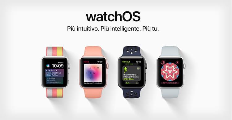 Apple presenta WatchOS 4: nuovi quadranti, nuovo Dock e Siri più intelligente