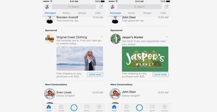 Anche Facebook Messenger verrà invaso da pubblicità