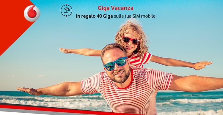 Vodafone Giga Vacanza regala 40GB ai clienti fisso e mobile