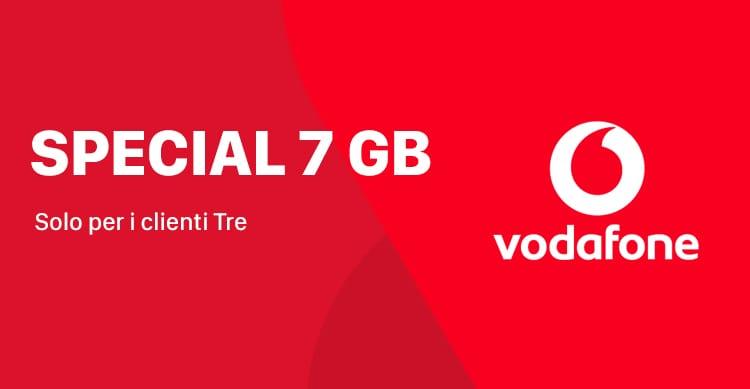 Vodafone Special 7 GB ritorna per tutti clienti Tre a soli 10€