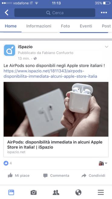 Facebook iSpazio 1