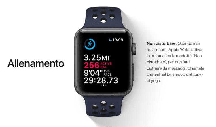 Non disturbare Apple Watch