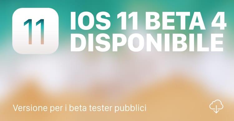iOS 11 beta 4 public